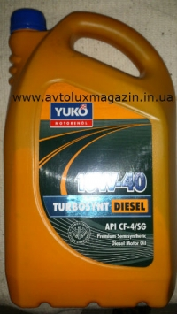 Моторное масло TURBOSYNT DIESEL SAE 10W-40 5 л. YUKO