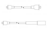 Комплект проводов зажигания (cиликон) (PS607) ВАЗ 2101-2107, 2121, 21213, 21214, 21215 SCT