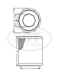 Фильтр воздушный (SB096) ВАЗ, МОСКВИЧ, CITROEN, PEUGEOT, TALBOT SCT