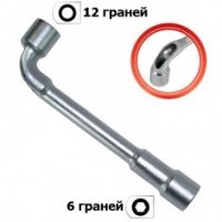 Ключ торцевой с отверстием L-образный 6 мм INTERTOOL