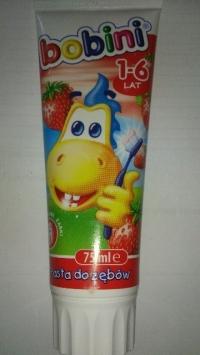 Зубная паста для детей от 1 - 6 лет (клубника) 75 мл. BOBINI