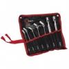 Набор ключей накидных шарнирных 8-22 мм, 7 ед., Cr-V, покрытие сатин-хром INTERTOOL