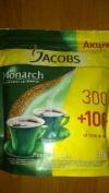 Кофе растворимое Якобс Монарх 400г (пакет) JACOBS