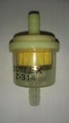 Фильтр топливный прямой карб. для мопедов с магнитом (Z-314) ZOLLEX