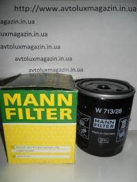 Фильтр масляный (W713/28) MG 350S, CADILLAC, CHEVROLET, LAND ROVER, LOTUS, MORGAN, ROVER, ГАЗ/Волга MANN